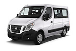 2016 Nissan NV400-Combi l1h1-Optima 5 Door Passenger Van Angular Front stock photos of front three quarter view