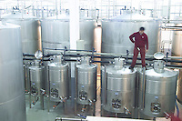 Fermentation tanks. J Portugal Ramos Vinhos, Estremoz, Alentejo, Portugal