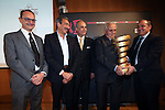 Former Champion cyclist Ercole Baldini was enroled into the  Hall of Fame of the Giro d'Italia today in Milan, 6th April 2016.<br /> Picture: ANSA/Matteo Bazzi | Newsfile<br /> <br /> <br /> All photos usage must carry mandatory copyright credit (© ANSA/Newsfile | Matteo Bazzi)