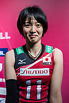Wing spiker Yurie Nabeya of Japan poses for photo during post match interview of the FIVB Volleyball World Grand Prix - Hong Kong 2017 match between Japan and Serbia on 22 July 2017, in Hong Kong, China. Photo by Yu Chun Christopher Wong / Power Sport Images