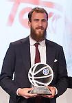 Real Madrid's, Sergio Rodriguez during presentation of the Liga Endesa playoff. May 23,2016. (ALTERPHOTOS/Rodrigo Jimenez)