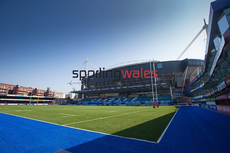 Cardiff Arms Park<br /> General view of Cardiff Arms Park with its 3G artificial pitch<br /> 10.09.14<br /> ©Steve Pope-SPORTINGWALES