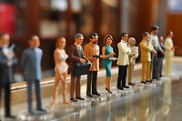 """BNPS.co.uk (01202 558833)<br /> Pic: ZacharyCulpin/BNPS<br /> <br /> Pictured: Corgi Icon Figures including a safari suited Roger Moore as 007, Sean Connery as 007, Honey Rider, Scaramanga, Odd Job, Jaws, Dr. No, Honey Rider.<br /> <br /> An exact replica of the secret weapons case used by Sean Connery's 007 in From Russia With Love has emerged for sale for £14,000. <br /> <br /> The black attache case is one of only 100 models ever produced and has been described by experts as the """"holy grail"""" of James Bond memorabilia. <br /> <br /> The replica is to be sold alongside dozens of sought-after Bond items, including a set of 21 hand painted Corgi model figures, at Ewbank's Auctions of Woking, Surrey."""