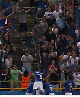 Football: Uefa European under 21 Championship 2019, Italy - Spain Renato Dall'Ara stadium Bologna Italy on June16, 2019.<br /> Italy's Federico Chiesa celebrates after scoring with his teammates during the Uefa European under 21 Championship 2019football match between Italy and Spain at Renato Dall'Ara stadium in Bologna, Italy on June16, 2019.<br /> UPDATE IMAGES PRESS/Isabella Bonotto
