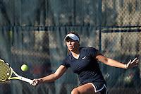 SAN ANTONIO, TX - JANUARY 30, 2011: The University of Texas-Pan American Broncos vs. the University of Texas at San Antonio Roadrunners Women's Tennis at the UTSA Tennis Center. (Photo by Jeff Huehn)