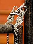 Cowboy hand tooled Silver Bit, Vaquero Design