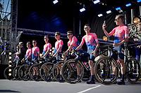 team EF Education First  <br /> <br /> Official 106th Tour de France 2019 Teams Presentation at the Central Square (Grote Markt) in Brussels (Belgium)<br /> <br /> ©kramon