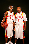 Oak Hill Academy basketball players Nolan Smith (23) and Brandon Jennings (3) on August 31, 2006 in New York, New York.  Smith will be attending Duke in the fall of 2007.  Jennings will be attending USC in the fall of 2008.