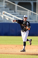 Pittsburgh Panthers Derik Wilson #27 during a game vs. the Central Michigan Chippewas at Chain of Lakes Park in Winter Haven, Florida;  March 11, 2011.  Pittsburgh defeated Central Michigan 19-2.  Photo By Mike Janes/Four Seam Images