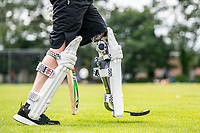 BNPS.co.uk (01202 558833)<br /> Pic: MaxWillcock/BNPS<br /> <br /> Pictured: Rob Franks's new prosthetic blade.<br /> <br /> Disabled cricketer Rob Franks is back in the runs after raising £12,000 to buy a prosthetic blade.<br /> <br /> Rob, 42, can now sprint between the wickets when batting, run into bowl and chase after the ball in the field. <br /> <br /> Rob Franks, from Poole, Dorset, had his left leg amputated above the knee three years ago after suffering an injury while playing a match.