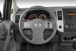 Steering wheel view of a 2009 Nissan Frontier Crew Cab SE