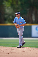 Tampa Bay Rays Brandon Lowe (5) during a minor league Spring Training game against the Baltimore Orioles on March 29, 2017 at the Buck O'Neil Baseball Complex in Sarasota, Florida.  (Mike Janes/Four Seam Images)