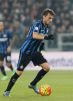 Calcio, semifinali di andata di Coppa Italia: Juventus vs Inter. Torino, Juventus Stadium, 27 gennaio 2016.<br /> FC Inter's Adem Ljajic in action during the Italian Cup semifinal first leg football match between Juventus and FC Inter at Juventus stadium, 27 January 2016.<br /> UPDATE IMAGES PRESS/Isabella Bonotto