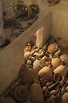 Israel, reconstructed burial cave with funerary gifts, Ketef Hinnom, Jerusalem, 7th-6th century BC, at the Israel Museum
