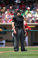 Home plate umpire Jason Johnson during the Midwest League game between the West Michigan Whitecaps and the Dayton Dragons at Fifth Third Field on May 29, 2017 in Dayton, Ohio.  The Dragons defeated the Whitecaps 4-2.  (Brian Westerholt/Four Seam Images)