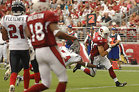 Aug 18, 2007; Glendale, AZ, USA; Arizona Cardinals wide receiver Sean Morey (87) scores a touchdown in the fourth quarter against the Houston Texans at University of Phoenix Stadium. Mandatory Credit: Mark J. Rebilas-US PRESSWIRE Copyright © 2007 Mark J. Rebilas
