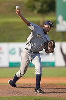 Starting pitcher Dellin Betances (38) of the Charleston RiverDogs in action at Fieldcrest Cannon Stadium in Kannapolis, NC, Saturday July 19, 2008.