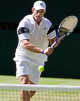 23-6-09, England, London, Wimbledon,  Andy Roddick