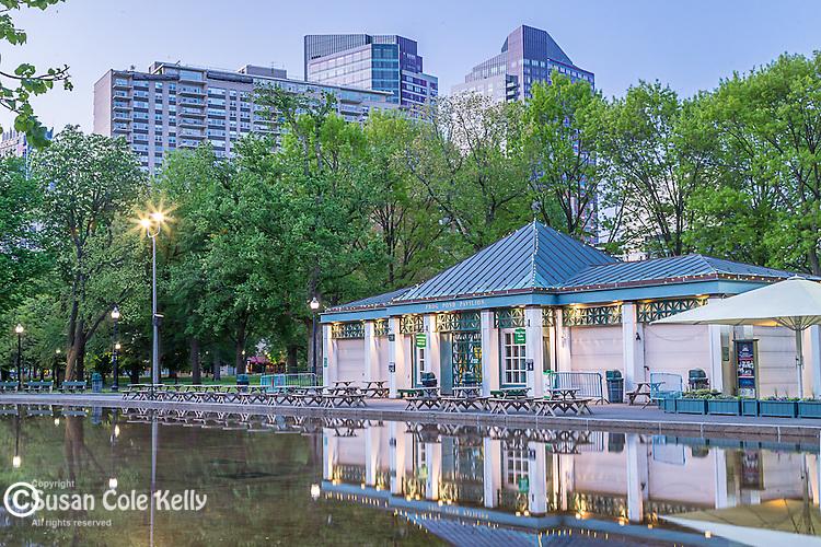 The Frog Pond Pavillion on Boston Common, Boston, Massachusetts, USA