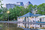 The Frog Pond Pavillion on Boston Common, Boston, Massachusetts, USA
