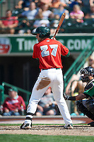Fort Wayne TinCaps designated hitter Mike Gallic #27 during a Midwest League game against the Dayton Dragons at Parkview Field on August 19, 2012 in Fort Wayne, Indiana.  Dayton defeated Fort Wayne 5-1.  (Mike Janes/Four Seam Images)