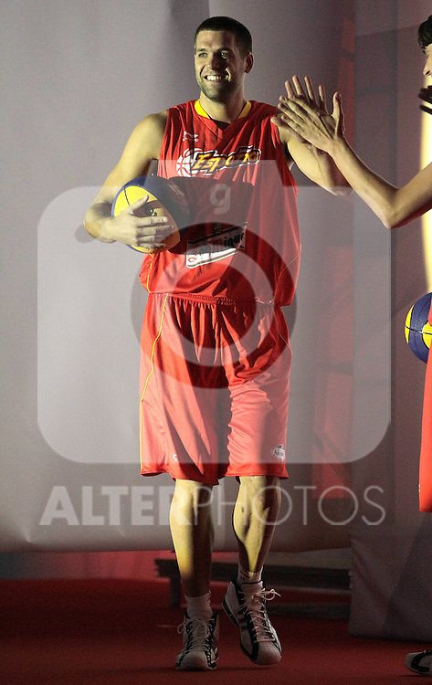 Spain's basket national team Felipe Reyes during presentation for world championships. July 21, 2010. (ALTERPHOTOS/Alvaro Hernandez)