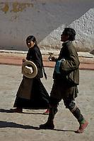 Pilgrims at a Monastery, Tibet