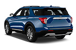 Car pictures of rear three quarter view of 2020 Ford Explorer Limited 5 Door SUV Angular Rear