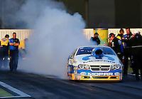 Feb 7, 2014; Pomona, CA, USA; NHRA pro stock driver Allen Johnson during qualifying for the Winternationals at Auto Club Raceway at Pomona. Mandatory Credit: Mark J. Rebilas-