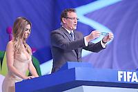 Costa do Sauípe, Bahia, Brazil - Friday, Dec 6, 2013: <br /> FIFA Secretary General Jérôme Valcke draws Germany in the same group as USA.