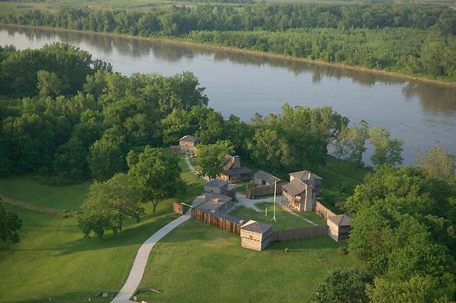 Fort Osage along Missouri River