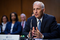 Matthew G. Olsen appears before a Senate Committee on Intelligence hearing for his nomination to be an Assistant Attorney General, Department of Justice, in the Dirksen Senate Office Building in Washington, DC, Tuesday, July 20, 2021. Credit: Rod Lamkey / CNP /MediaPunch