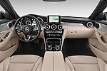 Stock photo of straight dashboard view of a 2014 Mercedes Benz C-CLASS Avantgarde 5 Door Wagon 2WD Dashboard