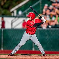 29 July 2018: Batavia Muckdogs designated hitter Michael Donadio in action against the Vermont Lake Monsters at Centennial Field in Burlington, Vermont. The Lake Monsters defeated the Muckdogs 4-1 in NY Penn League action. Mandatory Credit: Ed Wolfstein Photo *** RAW (NEF) Image File Available ***