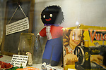 Gollywog in museum Minster isle of Sheppey, Kent, UK. 2014, 2010s,