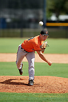 Baltimore Orioles pitcher James Teague (83) delivers a pitch during an Instructional League game against the New York Yankees on September 23, 2017 at the Yankees Minor League Complex in Tampa, Florida.  (Mike Janes/Four Seam Images)