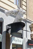 Zaubergeschäft Vienna Magic in der Marxergasse 7, Wien Mitte, Österreich<br /> Shop Vienna Magic, Marxergasse 7, Vienna, Austria