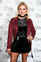 Gabby Allen<br /> arriving for the Natural History Museum Ice Rink launch party 2017, London<br /> <br /> <br /> ©Ash Knotek  D3340  25/10/2017