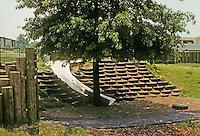 St. Louis: Jewish Community Center--Children's Learning Center.  Play structure/amphitheatre. Photo '78.