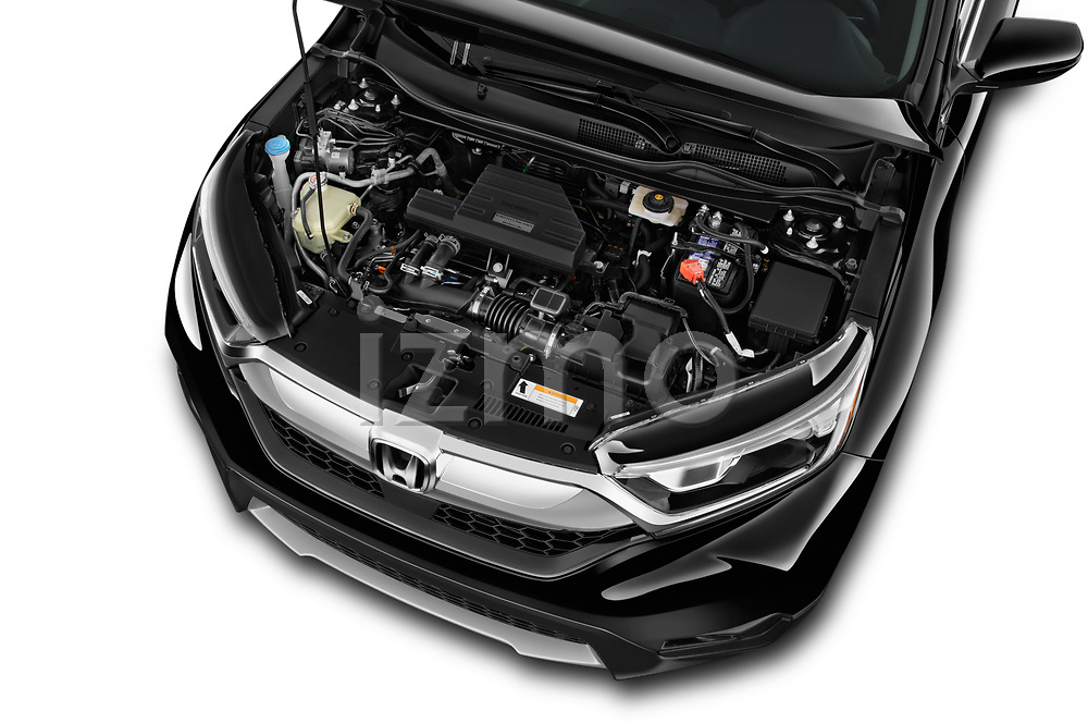 Car Stock 2018 Honda CR-V EX-L 5 Door SUV Engine  high angle detail view