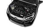 Car Stock 2018 Honda CR-V EX-L 5 Door SUV Engine  high angle detail view