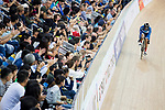 Riders compete on the Men's Individual Pursuit Final during the 2017 UCI Track Cycling World Championships on 14 April 2017, in Hong Kong Velodrome, Hong Kong, China. Photo by Chris Wong / Power Sport Images