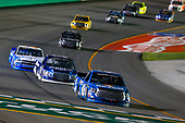 NASCAR Camping World Truck Series<br /> Buckle Up In Your Truck 225<br /> Kentucky Speedway, Sparta, KY USA<br /> Friday 7 July 2017<br /> Kyle Busch, Banfield Pet Hospital Toyota Tundra and Austin Cindric, LTi Printing Ford F150<br /> World Copyright: Russell LaBounty<br /> LAT Images