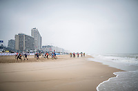 racing next to the seashore<br /> <br /> UCI 2021 Cyclocross World Championships - Ostend, Belgium<br /> <br /> Women's Race<br /> <br /> ©kramon