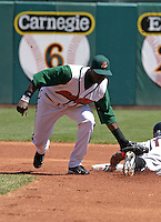 May 8, 2005:  Second Baseman Brandon Phillips of the Buffalo Bisons during a game at Dunn Tire Park in Buffalo, NY.  Buffalo is the International League Triple-A affiliate of the Cleveland Indians.  Photo by:  Mike Janes/Four Seam Images