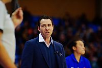 Saints coach Zico Coronel during the National Basketball League Final Four semifinal match between Wellington Saints and Auckland Huskies at Te Rauparaha Arena in Porirua, New Zealand on Thursday, 22 July 2021. Photo: Dave Lintott / lintottphoto.co.nz