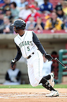 May 27, 2010: Myrio Richard (5) of the Kane County Cougars at Elfstrom Stadium in Geneva, IL. The Cougars are the Midwest League Class A affiliate of the Oakland Athletics. Photo by: Chris Proctor/Four Seam Images
