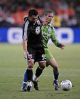 DC United forward Jaime Moreno (99).  The Seattle Sounders FC defeated DC United 2-1at RFK Stadium, Saturday September 12 , 2009.