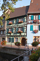 half timbered houses quai de la poissonnerie little venice colmar alsace france