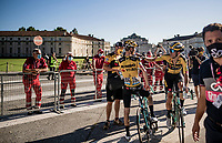 Wout Van Aert (BEL/Jumbo-Visma) finishes 3rd in the bunch sprint, just days after winning Strade Bianche<br /> <br /> 101st Milano-Torino 2020 (UCI 1.Pro)<br /> 1 day race from Mesero to Stupinigi (198km)
